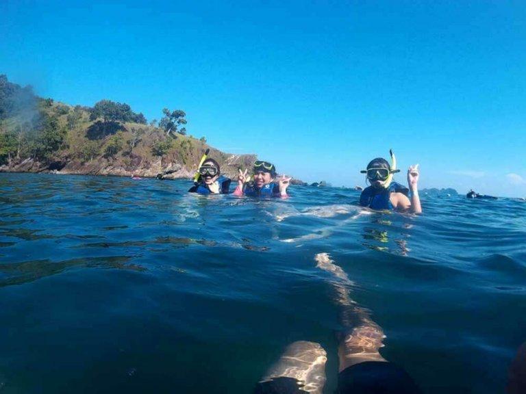 ดำน้ำ Snorkel ที่เกาะย่านเชือก (ZedetkyiKyun Island)